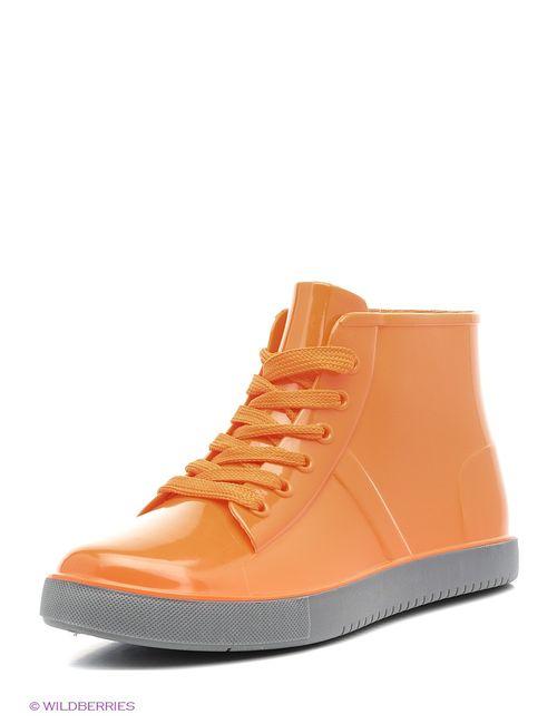 Keddo | Женские Оранжевые Резиновые Сапоги