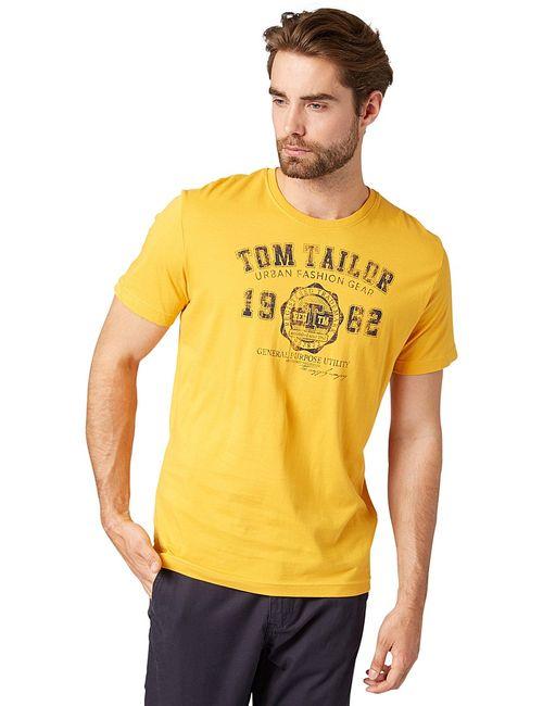 TOM TAILOR | Мужские Жёлтые Футболки