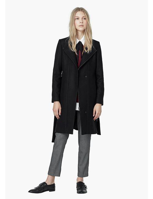 Mango | Женское Чёрное Пальто
