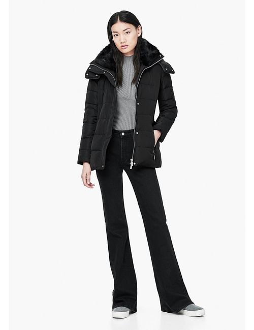 Mango   Женские Чёрные Куртки