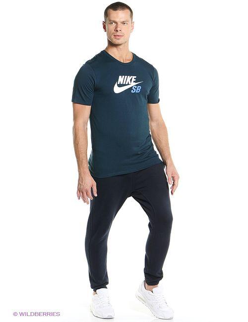 Nike | Мужская Синяя Футболка