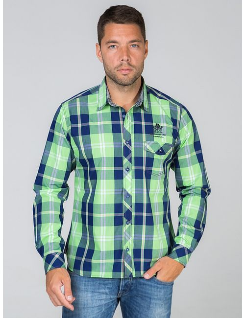 JOHN JENIFORD | Мужские Зелёные Рубашки