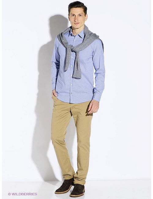 Tommy Hilfiger | Мужские Голубы Рубашки