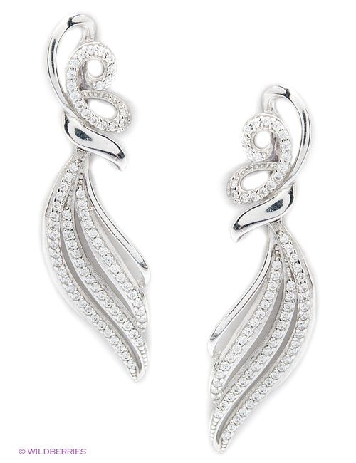Lovely Jewelry | Мужские Серебристые Ювелирные Серьги