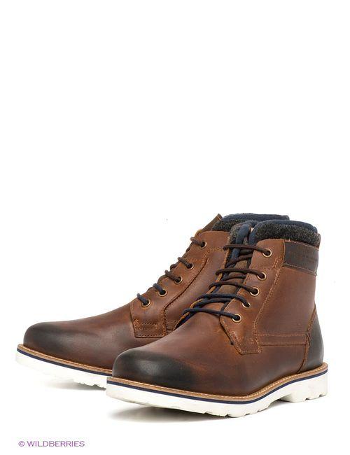 s.Oliver | Мужские Коричневые Ботинки