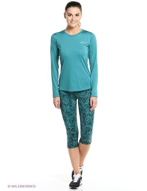 Nike | Женское Зелёное Капри