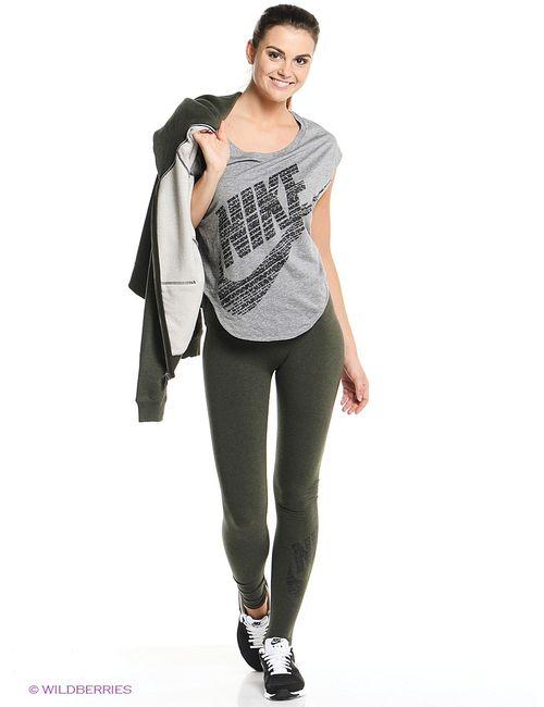 Nike | Женские Зелёные Леггинсы