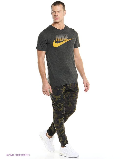 Nike   Мужская Чёрная Футболка