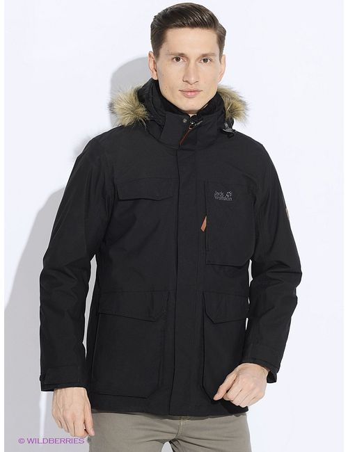 Jack Wolfskin   Чёрные Куртки