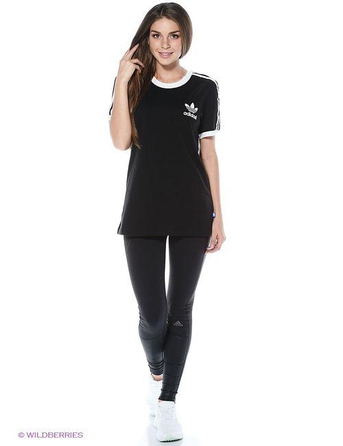 Adidas | Женская Чёрная Футболка