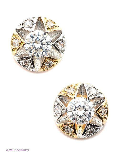 Royal Diamond | Женские Золотистые Серьги