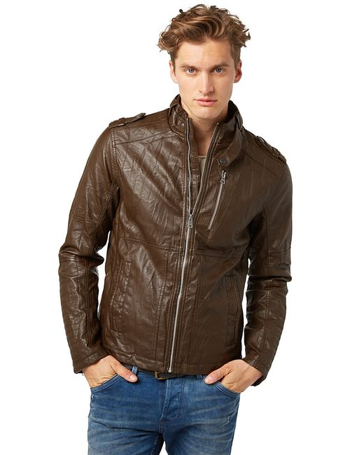 TOM TAILOR | Мужские Коричневые Куртки