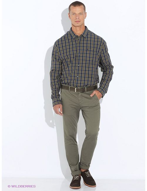 s.Oliver | Мужские Зелёные Рубашки