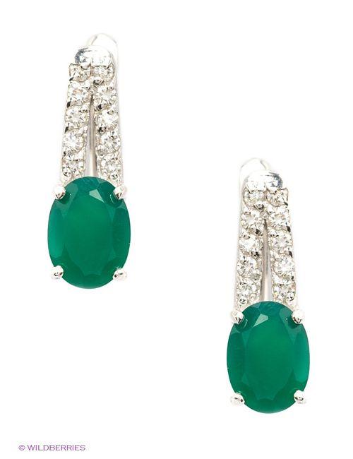 Balex | Женские Зелёные Ювелирные Серьги