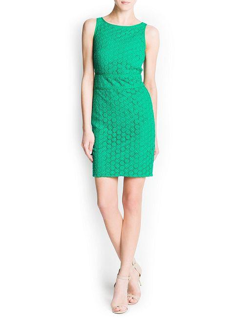 Mango | Женские Зелёные Платья