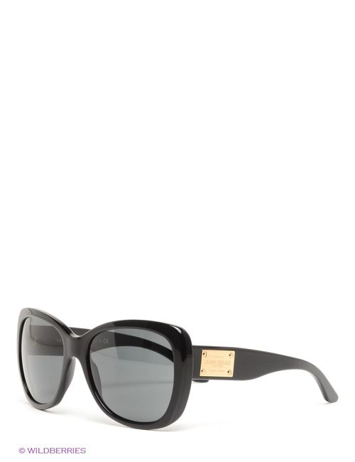 Versace | Женские Чёрные Солнцезащитные Очки