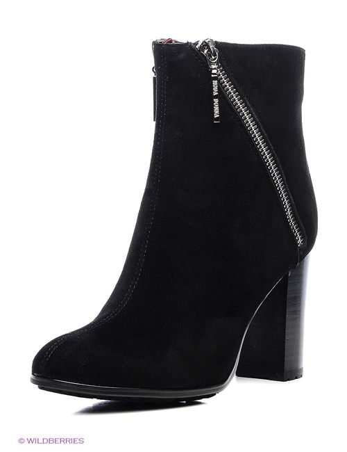 Moda Donna | Женские Чёрные Ботильоны
