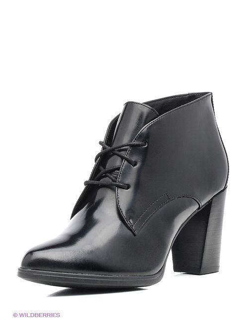 Clarks | Женские Чёрные Ботинки