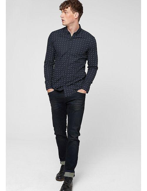 s.Oliver | Мужские Синие Рубашки