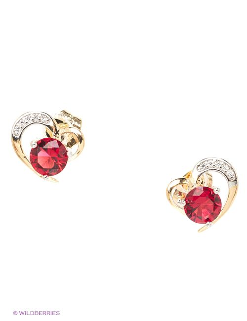 Lovely Jewelry | Женские Красные Серьги