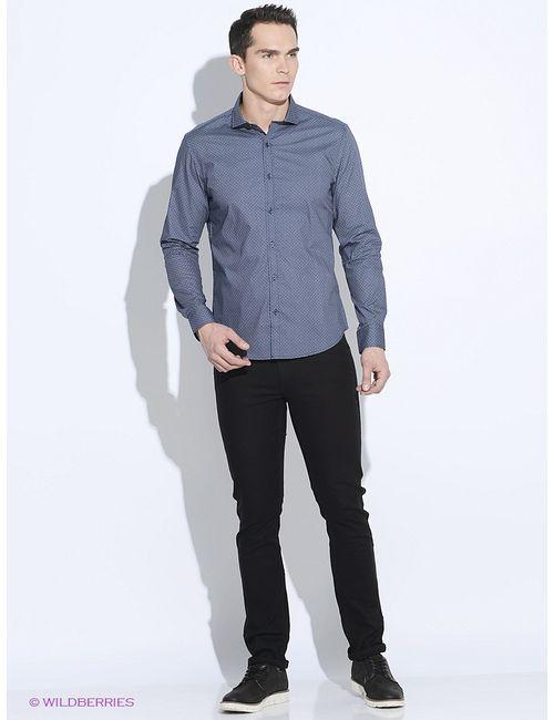 Oodji | Мужские Синие Рубашки