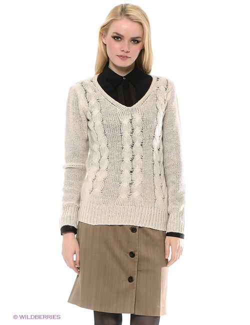 Sela | Женские Молочные Пуловеры