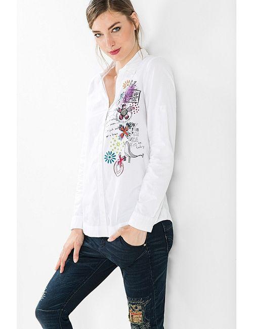 Desigual | Женские Белые Рубашки