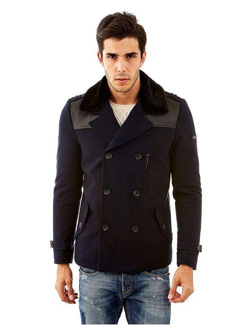 Guess | Мужское Синее Пальто