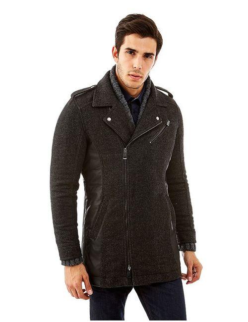 Guess | Мужское Чёрное Пальто