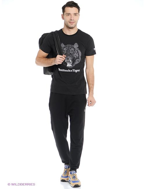 Onitsuka Tiger | Мужские Чёрные Футболки