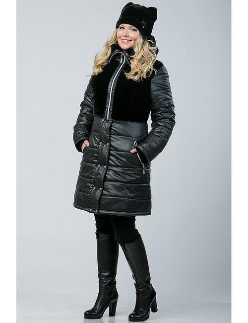 А Б Коллекция | Женское Чёрное Пальто