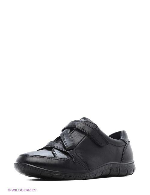 Ecco | Женские Чёрные Ботинки