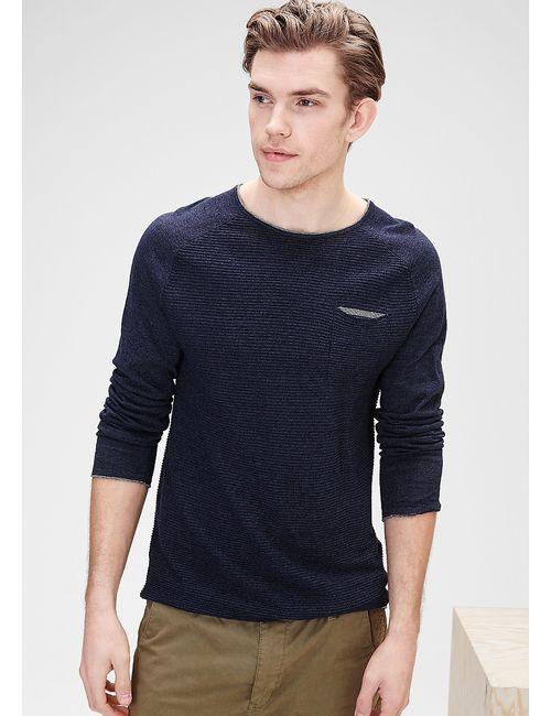 s.Oliver | Мужские Синие Пуловеры