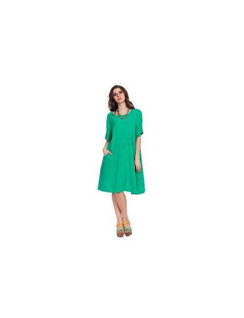 INDIANO | Женские Зелёные Платья