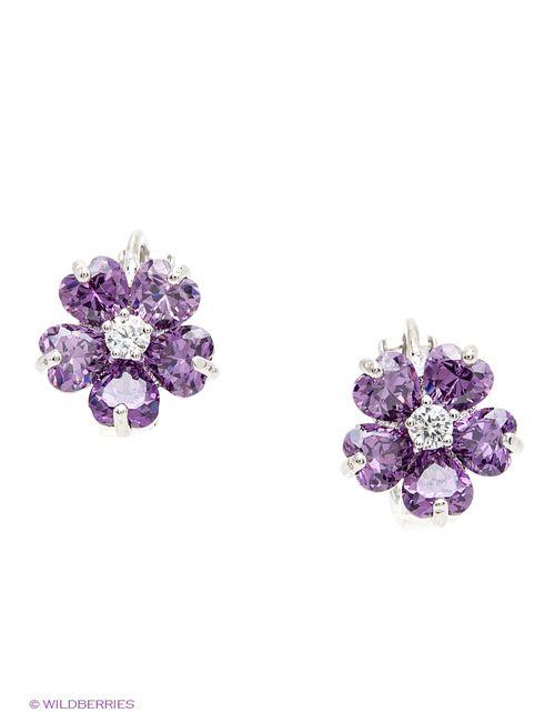 Royal Diamond | Женские Фиолетовые Серьги