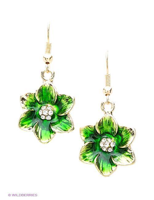 Royal Diamond | Женские Зелёные Серьги
