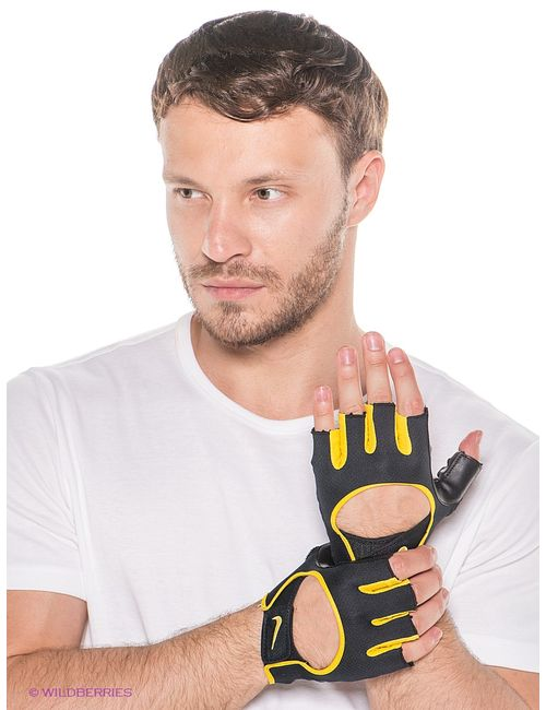 Nike   Мужские Чёрные Перчатки