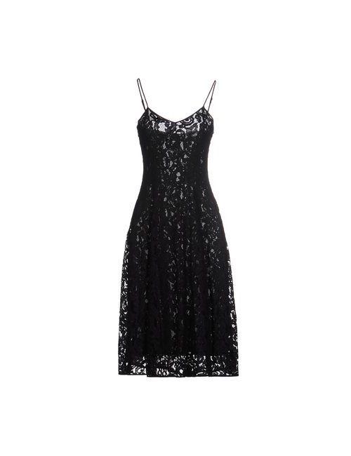 Michael Michael Kors | Женское Чёрное Платье До Колена