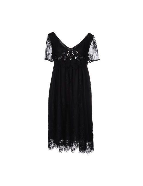 Twin-Set Simona Barbieri | Женское Чёрное Платье До Колена