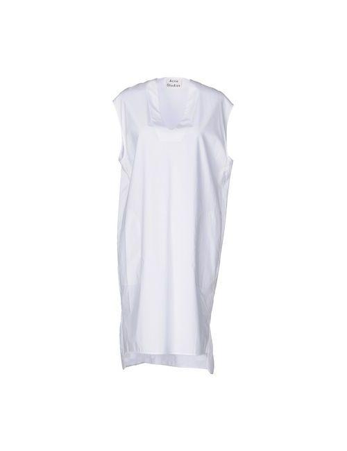 Acne | Женское Белое Короткое Платье