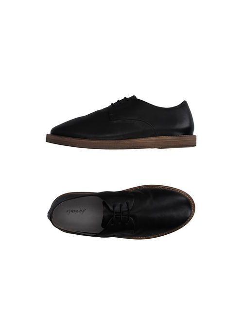 Marsell   Мужская Чёрная Обувь На Шнурках