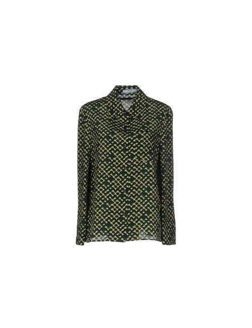 Prada   Женская Зелёная Pубашка