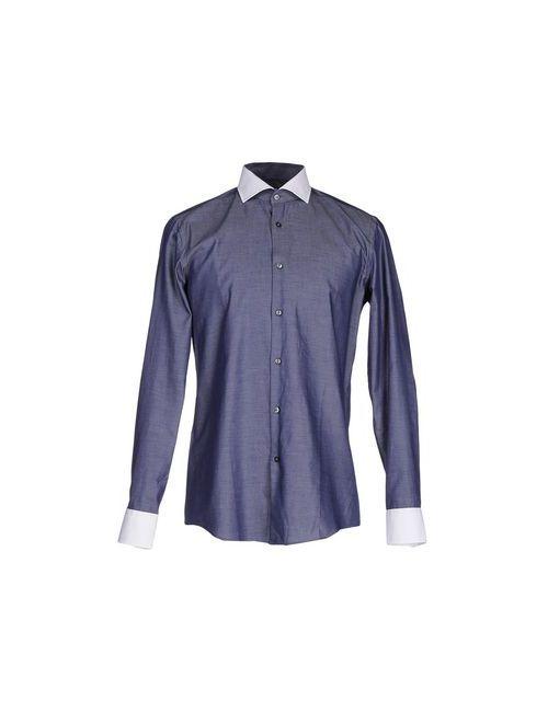 BOSS | Мужская Синяя Pубашка
