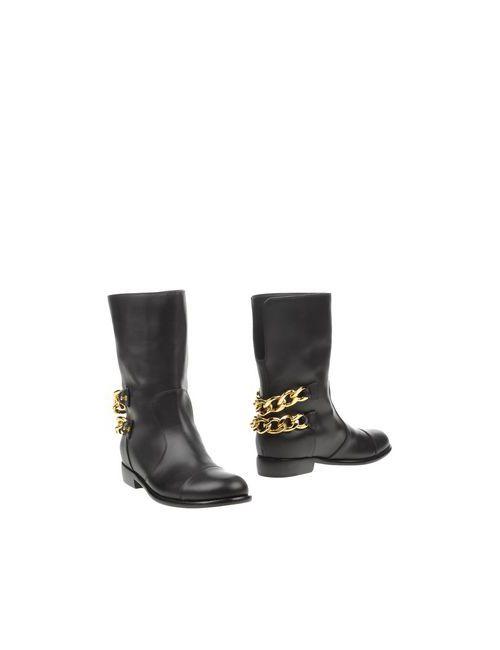 Giuseppe Zanotti Design   Женские Чёрные Полусапоги И Высокие Ботинки