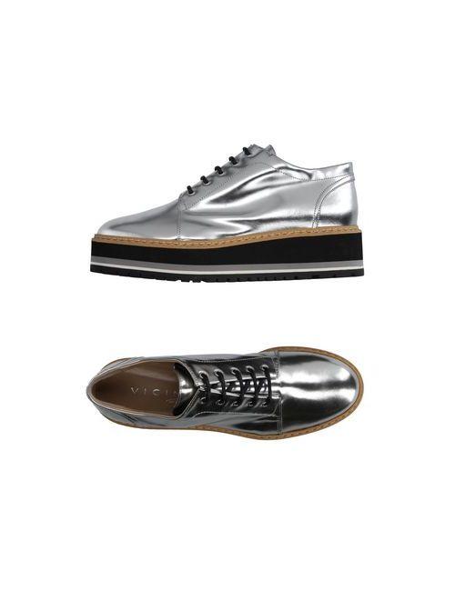 Vicini Tapeet | Мужская Серебристая Обувь На Шнурках