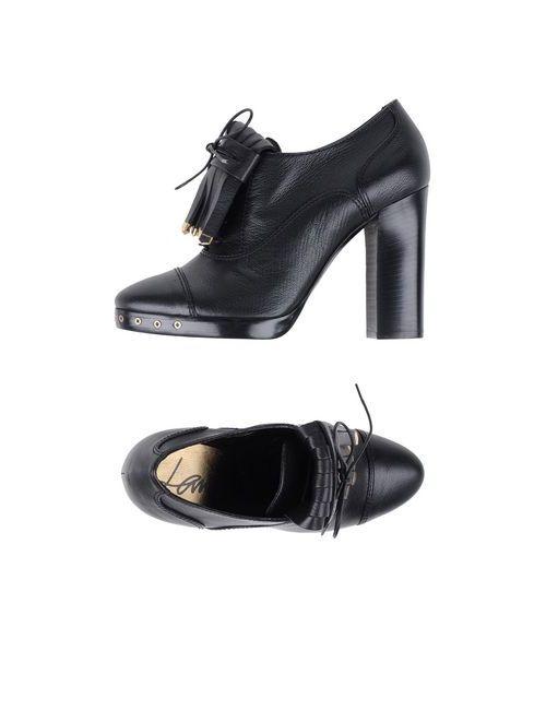 Lanvin | Мужская Чёрная Обувь На Шнурках