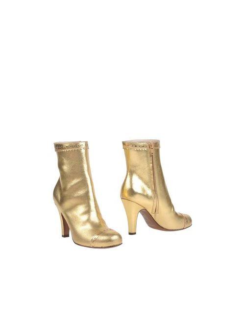 L' Autre Chose | Женские Золотистые Полусапоги И Высокие Ботинки