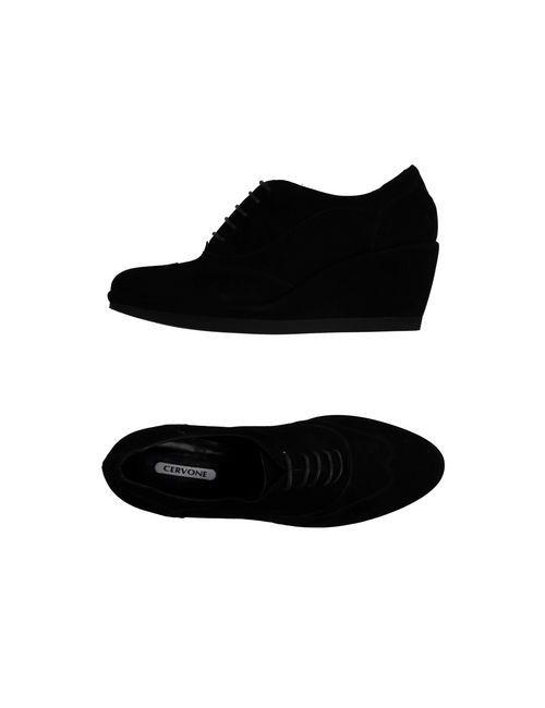 CERVONE | Мужская Чёрная Обувь На Шнурках
