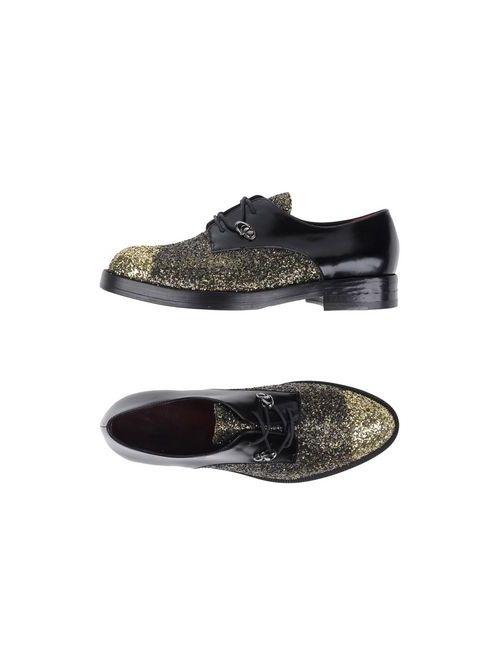 Alma   Мужская Золотистая Обувь На Шнурках