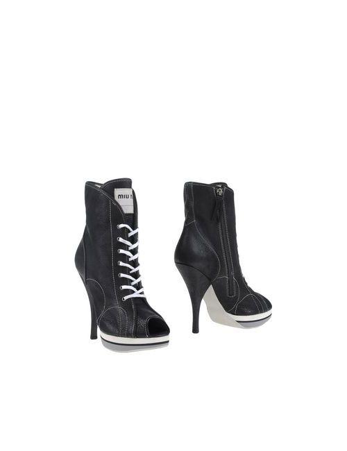 Miu Miu   Женские Чёрные Полусапоги И Высокие Ботинки